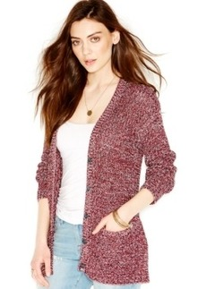Lucky Brand Melange-Knit Button-Front Cardigan