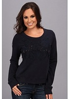 Lucky Brand Mesh Inset Top