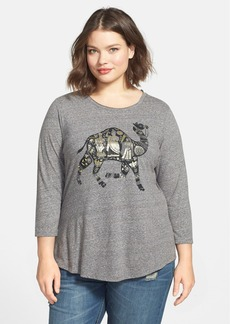 Lucky Brand Metallic Camel Tee (Plus Size)