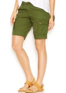 Lucky Brand Mid-Rise Cargo Bermuda Shorts