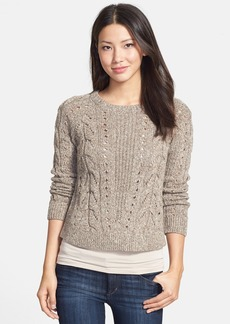 Lucky Brand Mix Knit Crewneck Sweater