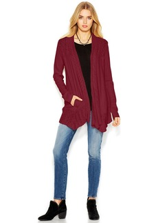 Lucky Brand Mixed-Knit Long Cardigan