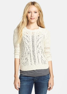 Lucky Brand Mixed Open Stitch Sweater
