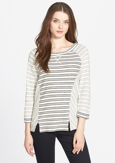 Lucky Brand Mixed Stripe Cotton Pullover