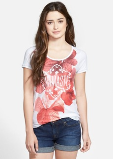Lucky Brand 'Namaste' Tee with Back Cutout
