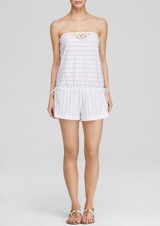 Lucky Brand Natural Connection Strapless Swim Cover Up Romper