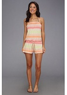 Lucky Brand Neutral Territory Romper Cover-Up