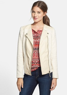 Lucky Brand 'Noa' Leather & Cotton Jacket