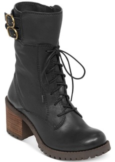 Lucky Brand Nylah Lace Up Booties