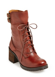 Lucky Brand 'Nylah' Leather Military Boot (Women)
