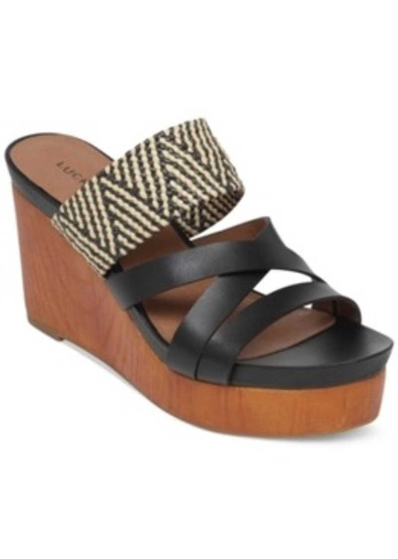 Lucky Brand Lucky Brand Nyloh Platform Wedge Sandals Womenu0026#39;s Shoes | Shoes - Shop It To Me