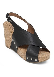 Lucky Brand Open Toe Platform Wedge Sandals - Minari