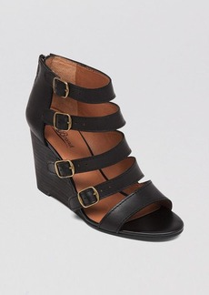 Lucky Brand Open Toe Wedge Sandals - Reynolds Strappy