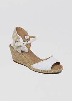 Lucky Brand Peep Toe Platform Wedge Sandals - Kyndra