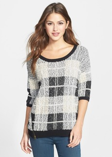 Lucky Brand Plaid Cotton Blend Pullover
