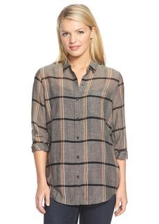 Lucky Brand Plaid Cotton Shirt