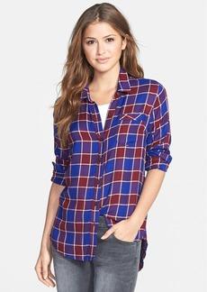 Lucky Brand Plaid Flannel Boyfriend Shirt