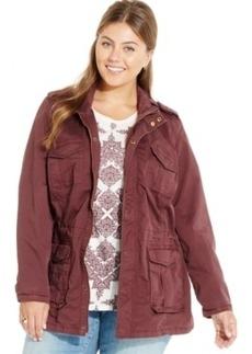 Lucky Brand Plus Size Cotton Anorak Jacket