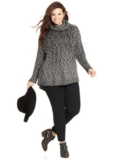 Lucky Brand Plus Size Cowl-Neck Sweater