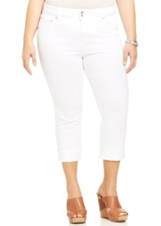 Lucky Brand Plus Size Cropped Skinny Jeans, White Wash