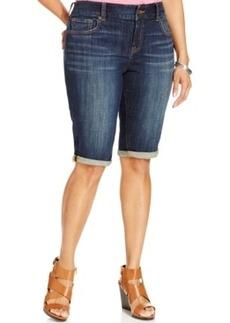 Lucky Brand Plus Size Denim Bermuda Shorts, Matira Wash