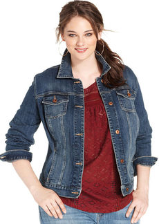 Lucky Brand Plus Size Denim Jacket, Amber Wash