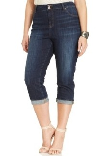 Lucky Brand Plus Size Emma Cropped Jeans, Agate Wash