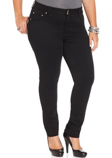 Lucky Brand Plus Size Emma Tummy-Control Straight-Leg Jeans, Black Wash