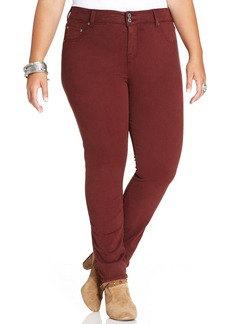 Lucky Brand Plus Size Emma Tummy-Control Straight-Leg Jeans, Fall Red Wash