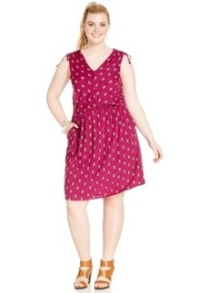 Lucky Brand Plus Size Geo-Print Pocketed Dress