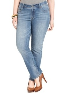Lucky Brand Plus Size Georgia Straight-Leg Jeans, Sandycross Wash