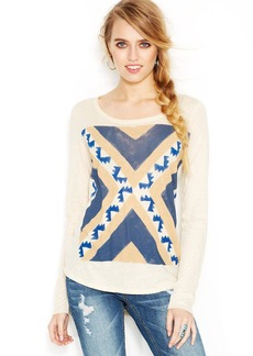 Lucky Brand Plus Size Long-Sleeve Printed Tee