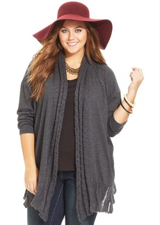Lucky Brand Plus Size Open-Front Cardigan