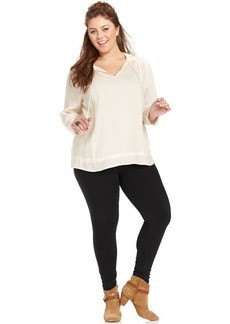 Lucky Brand Plus Size Peasant Blouse