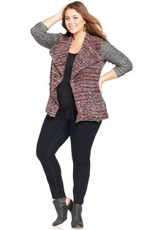 Lucky Brand Plus Size Printed Open-Front Cardigan