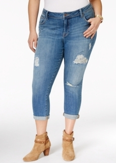 Lucky Brand Plus Size Ripped Georgia Boyfriend Jeans