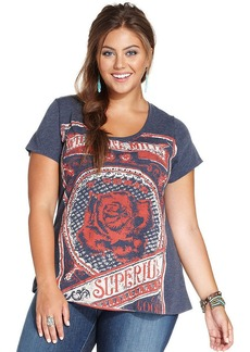Lucky Brand Plus Size Rose-Print Tee