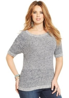 Lucky Brand Plus Size Short-Sleeve Sweater