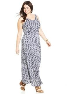 Lucky Brand Plus Size Sleeveless Printed Maxi Dress