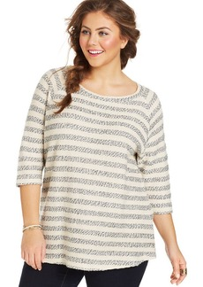 Lucky Brand Plus Size Striped Sweater