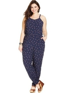 Lucky Brand Plus Size V-Neck Geo-Print Jumpsuit