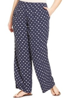 Lucky Brand Plus Size Wide-Leg Printed Soft Pants