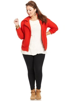 Lucky Brand Plus Size Zip-Front Cardigan