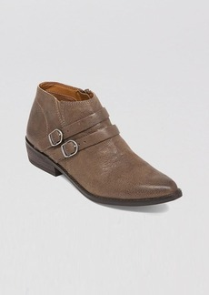 Lucky Brand Pointed Toe Buckled Ankle Booties - Jofeen