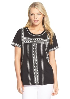 Lucky Brand 'Pop' Embroidered Tee