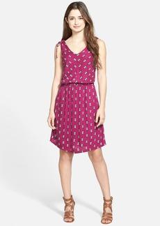 Lucky Brand Print Knit A-Line Dress
