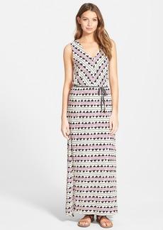 Lucky Brand Print Sleeveless Jersey Maxi Dress