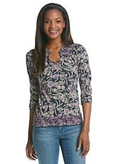 Lucky Brand® Printed Henley Top