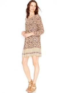 Lucky Brand Printed Silk Dress