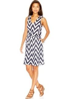 Lucky Brand Printed V-Neck Dress